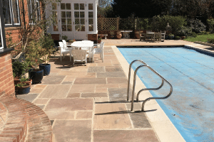Paving replacement around swimming pool